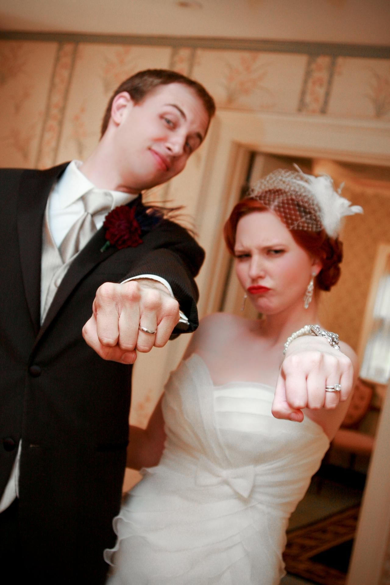 Bride and groom with wedding rings for my bridesmaids pinterest