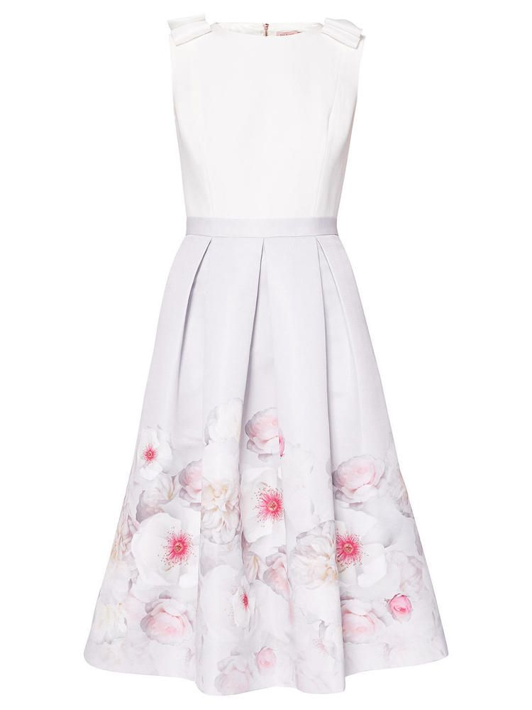 Ted Baker Gilith Chelsea Grey Perfect Dress Size 1 Uk 8