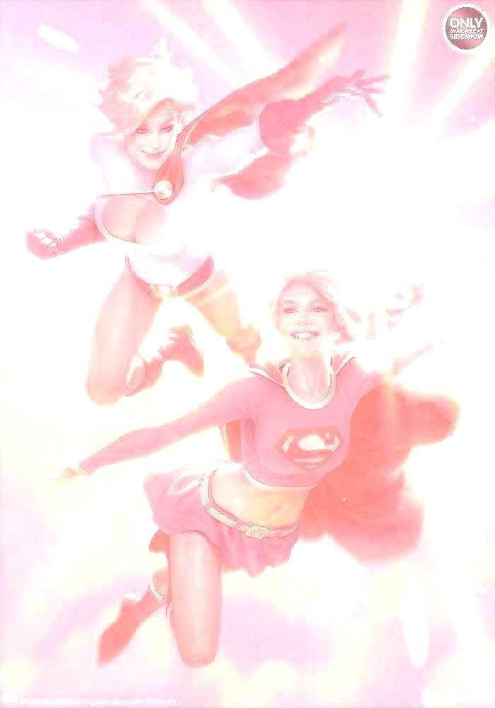 DC Comics Supergirl & Power Girl Art Print by ...You can find Supergirl and more on our website.DC