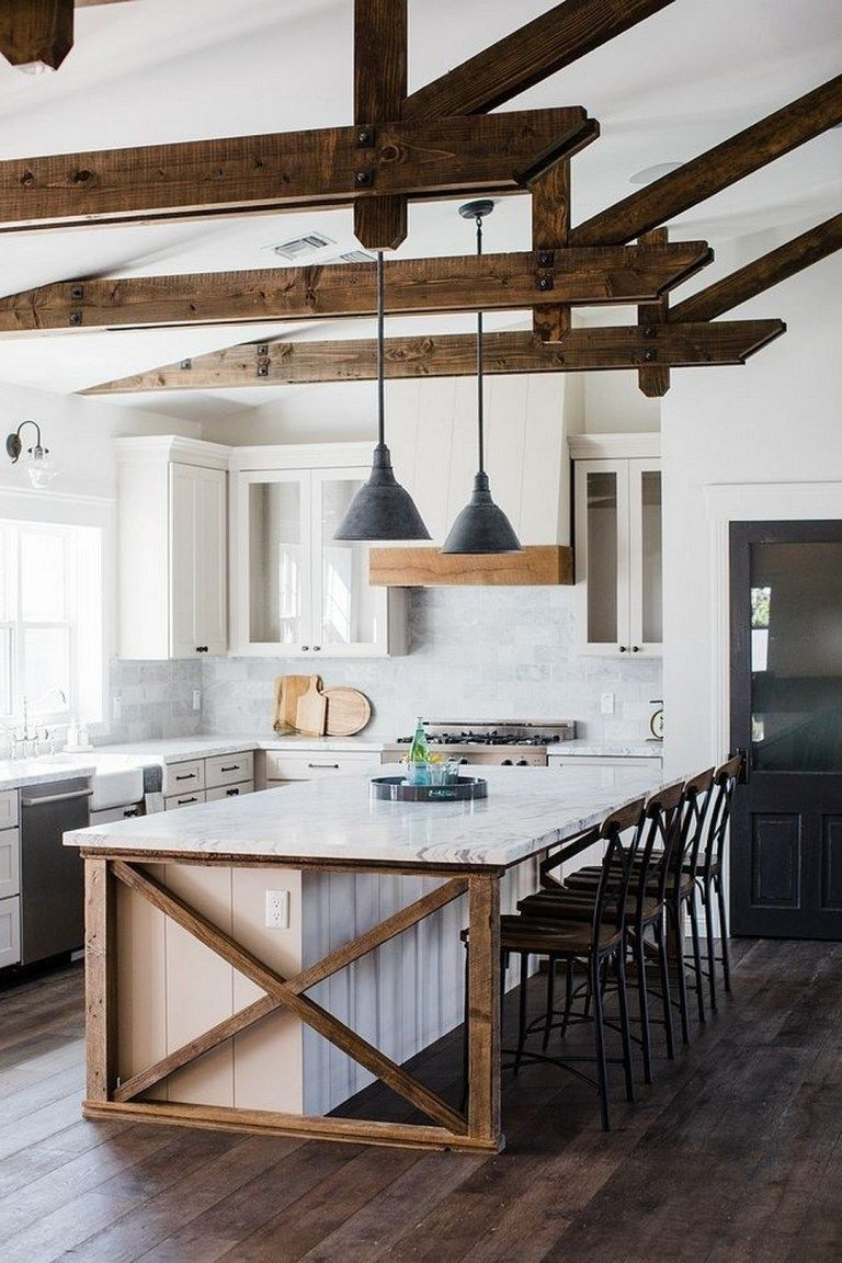 35 Awesome Most Amazing Rustic Farmhouse Kitchen Design Small