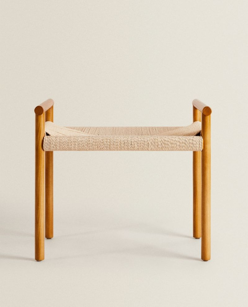Zara Home S Latest Drop For Spring Shines A Spotlight On Luxe Looking Furniture In 2020 Spring Furniture Zara Home Wooden Bench