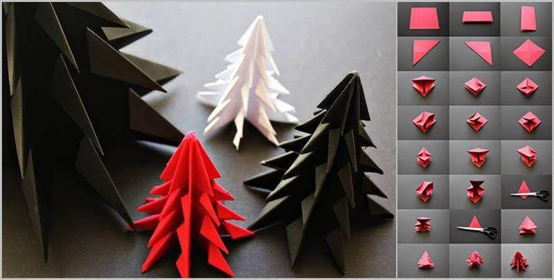Creative Ideas Diy Origami Christmas Tree Jpg 800 405 Pixels Origami Christmas Ornament Christmas Origami Origami Christmas Tree