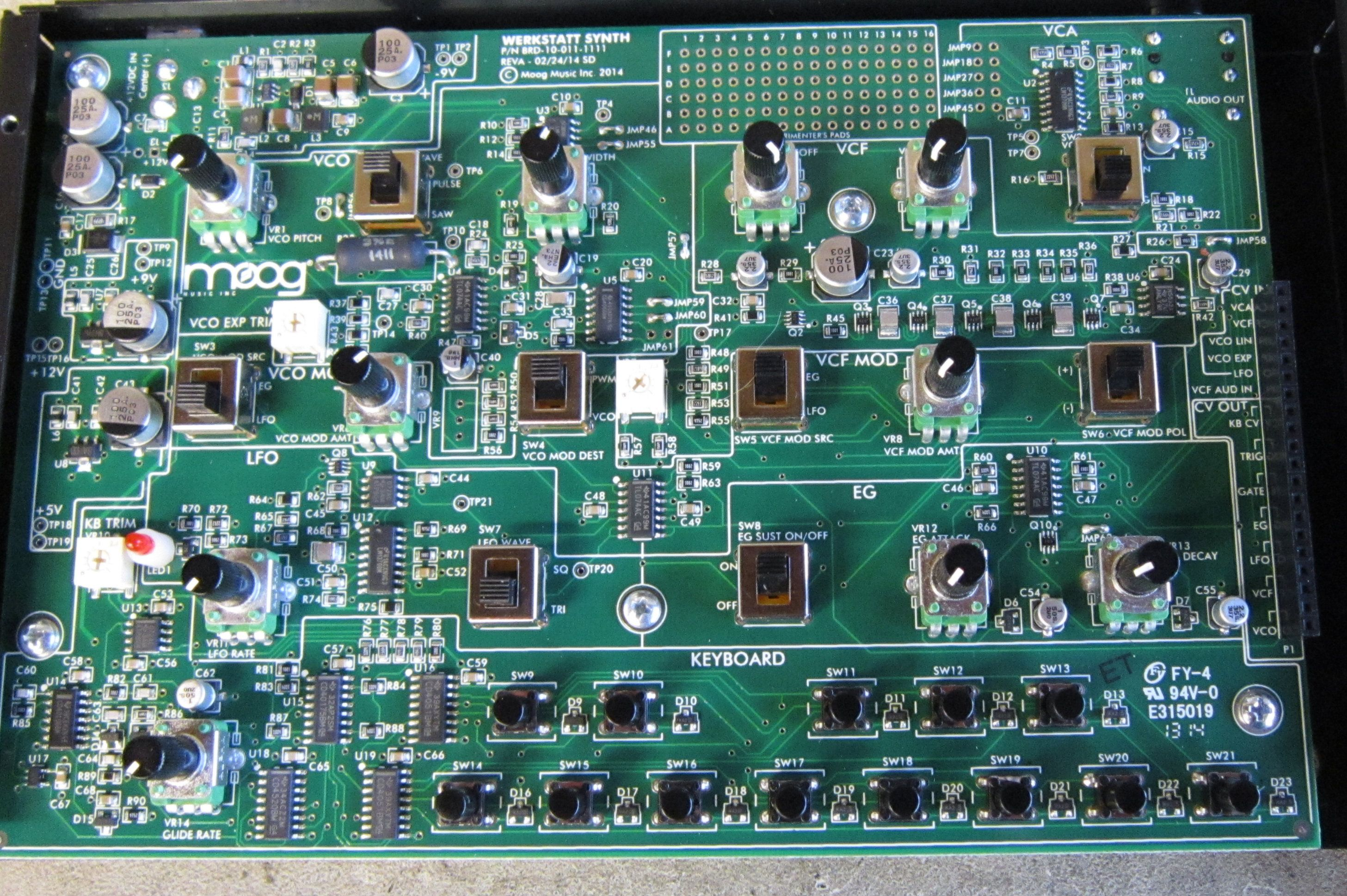 Moog Werkstatt, Moog Fest 2014. Main circuit board.