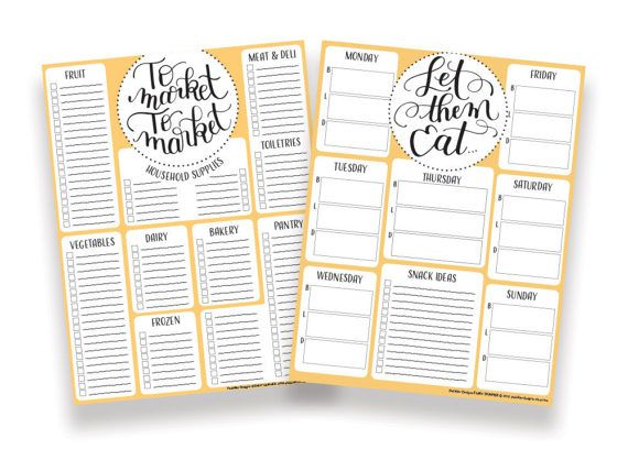 Printable Grocery List Template Glamorous Meal Planner And Grocery List Editable Pdf Printable Planner Pages .