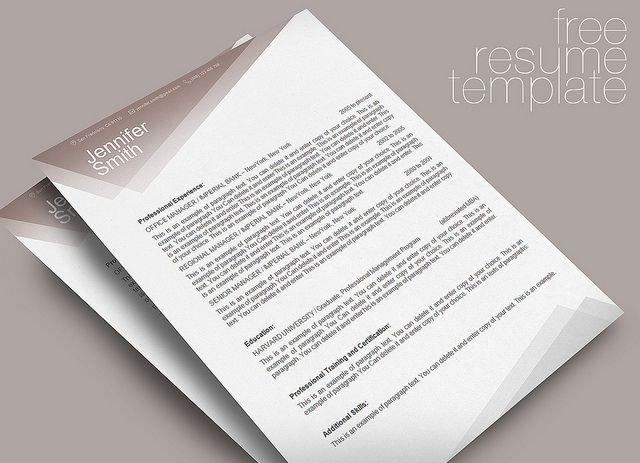 free resume word template