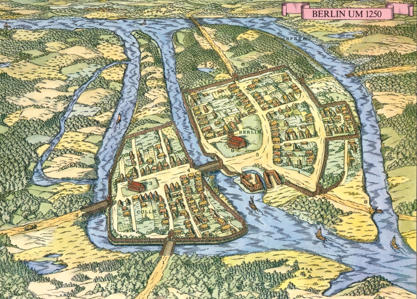 Map of Berlin, 13th century | Berlin geschichte, Berlin