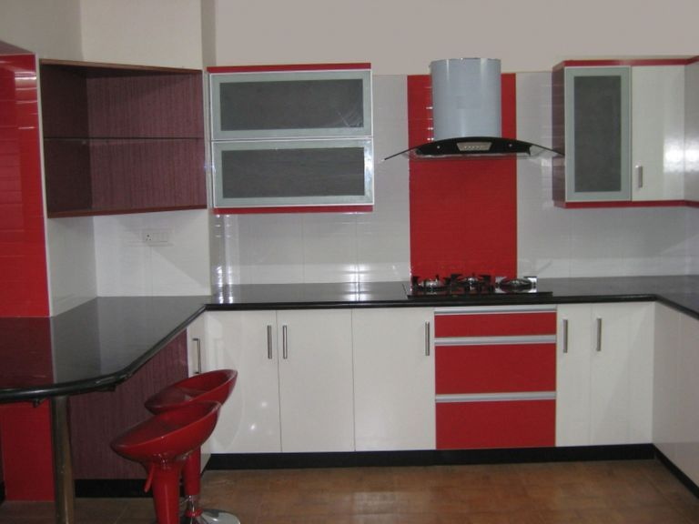 Red And Black Kitchen Designs 9