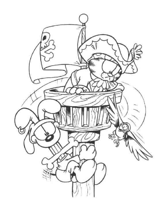 Garfield 29 Ausmalbilder | resimler | Pinterest | Kids colouring
