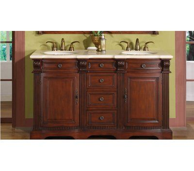 Astoria Grand Bradley 58 Double Bathroom Vanity Set Double Sink