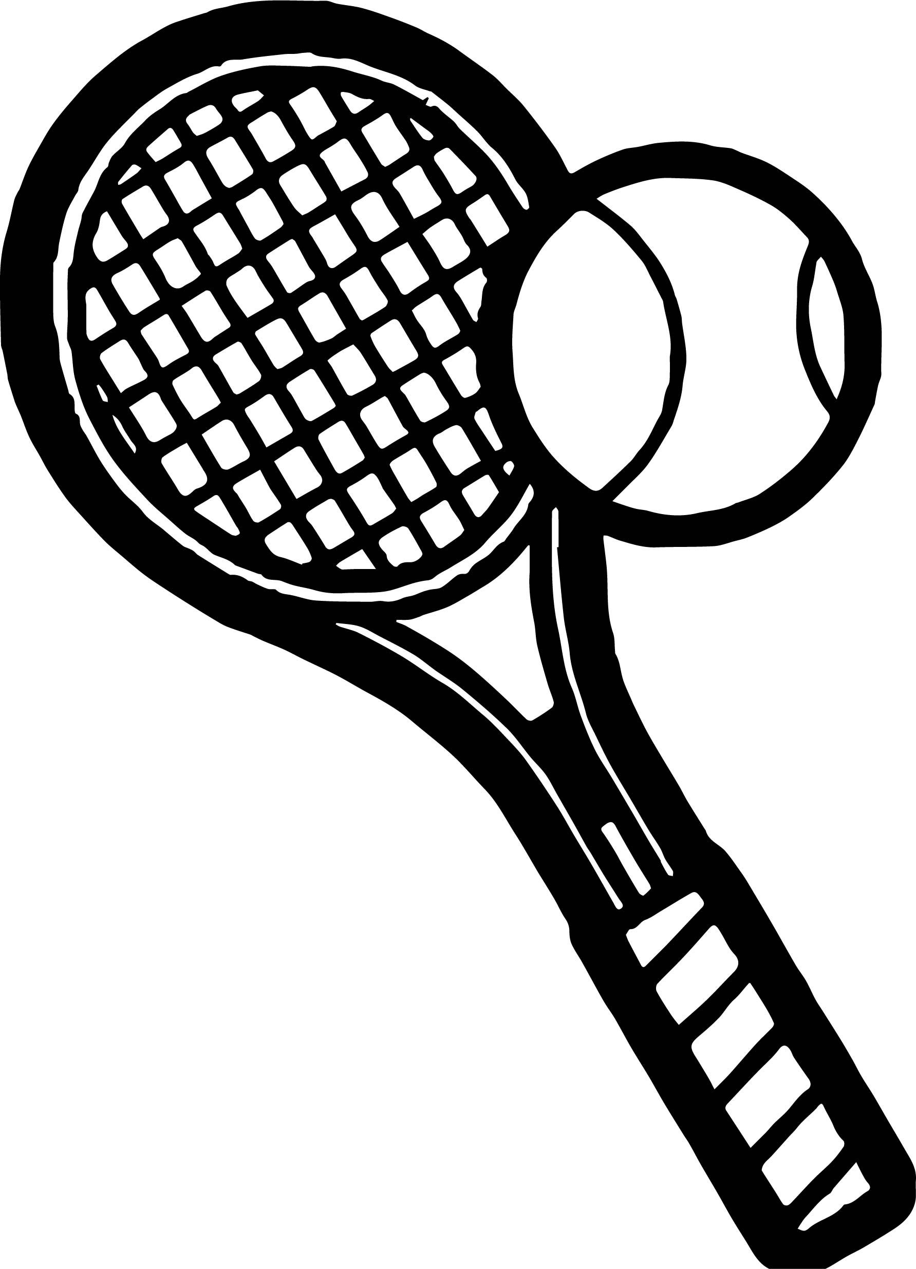 Awesome Bold Tennis Racket Coloring Page Tennis Racket Rackets Coloring Pages