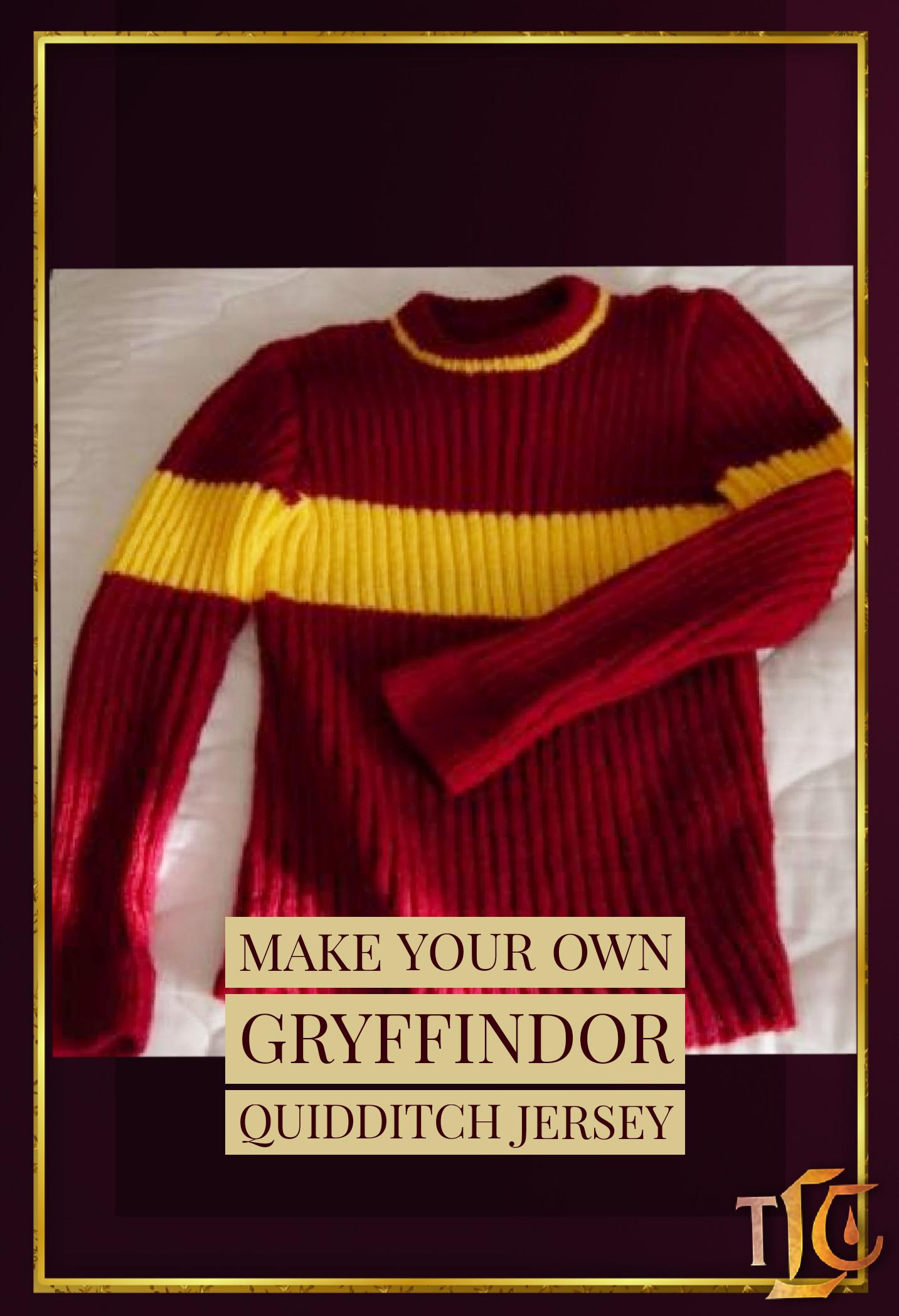 Make Your Own Gryffindor Quidditch Sweater in 2020   Harry ...