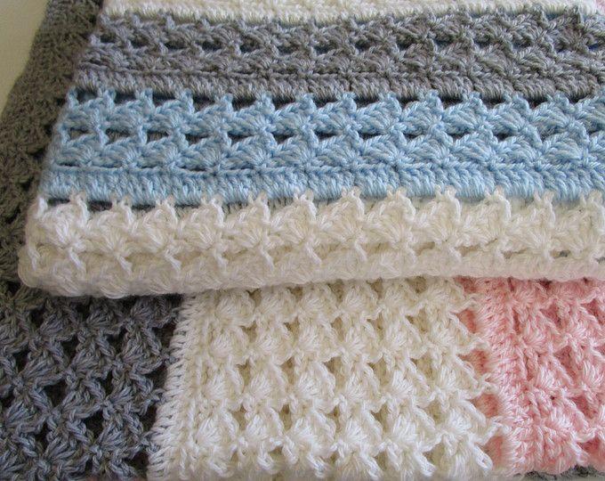 Interlocking Shell Stitch Crochet Patterns Crochet Baby Blanket