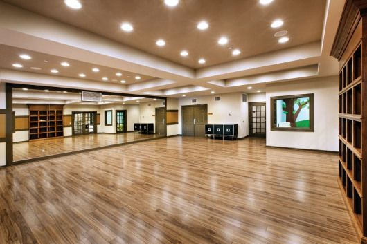 Photo of Aerobics and Yoga Studio #recreationalroom #recreational #room #interior #design