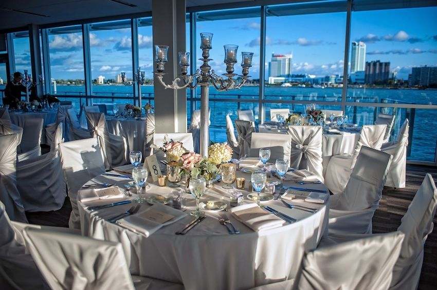 Elegant Detroit Waterfront Wedding Reception