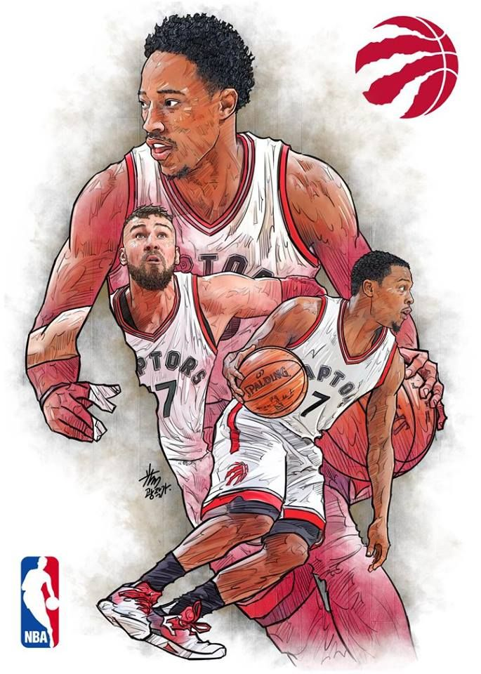 Team Toronto Raptors Basketball Players Nba Nba Basketball Art Nba Artwork
