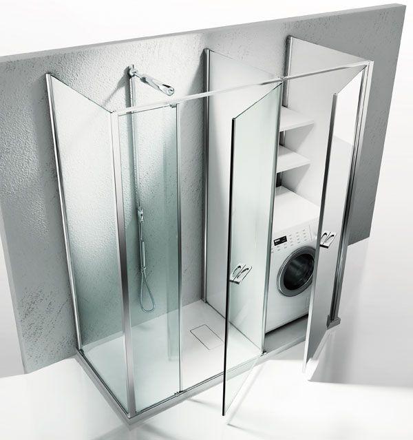 Int grer son lave linge dans la salle de bains salle de for Placard sdb