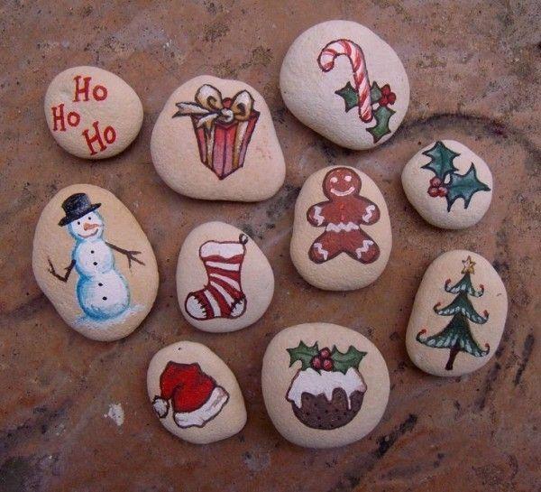 weihnachtsdeko selber machen steine bemalen #diychristmasartxmas - Ideen Blog #bemaltesteine