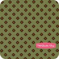 Civil War Peace & Unity Red on Olive Crosses Yardage SKU# 0414-114