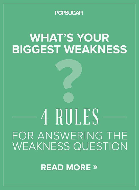 how to answer weakness interview question