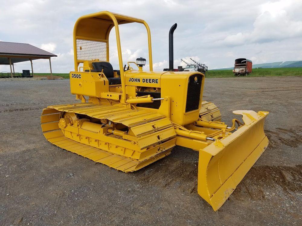 1981 John Deere 350CE Wide Tracks Bull Dozer Crawler Tractor