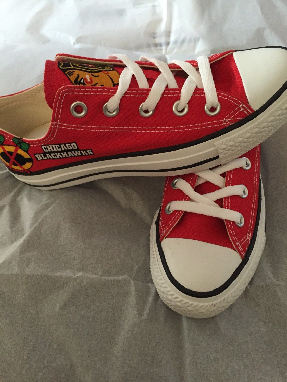 new concept 58cc0 cc936 Chicago Blackhawks Converse Shoes Blackhawks Converse NHL Shoes