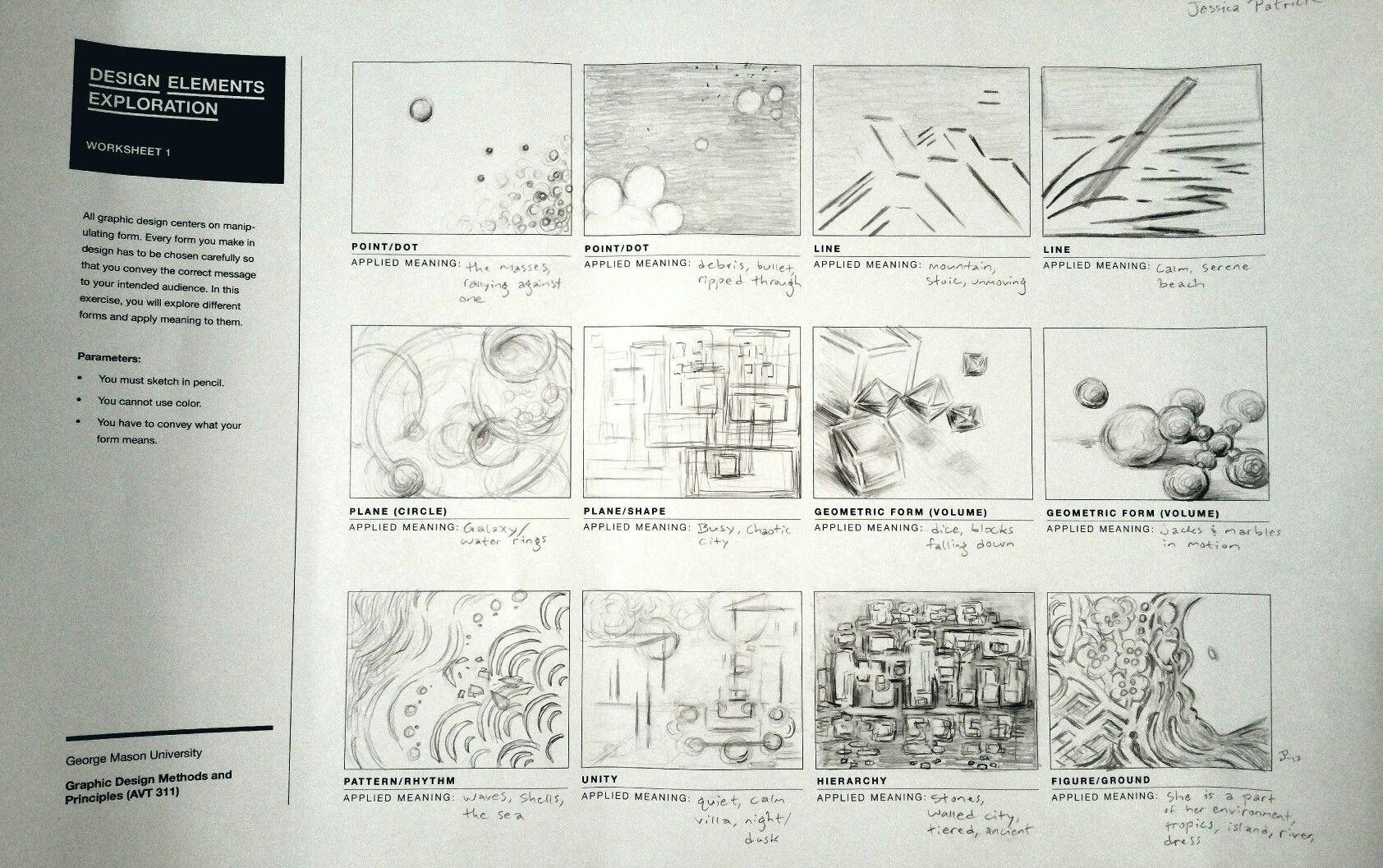 Worksheet 1 Design Elements Exploration Point Dot Line