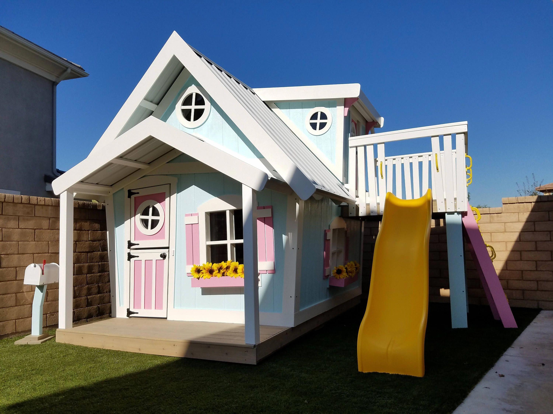 The Big Playhouse Xl By Imagine That Playhouses Etsy Diyplayhouseplans Play Houses Build A Playhouse Big Playhouses
