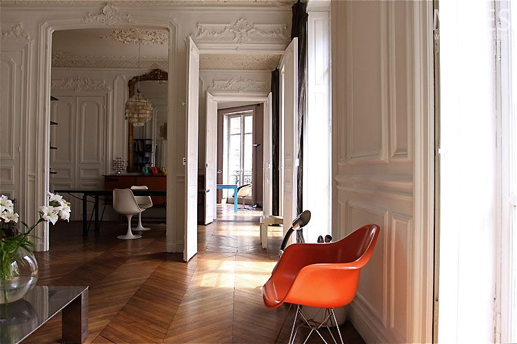 Haussmannien un appartement paris pinterest for Interieur haussmannien