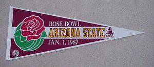 ASU 1987 ARIZONA STATE SUN DEVILS ROSE BOWL GAME DAY PENNANT UNSOLD STOCK