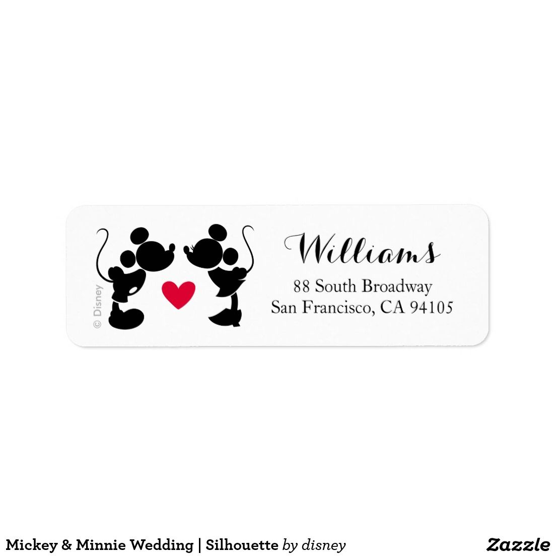 Mickey & Minnie Wedding | Silhouette Label | { Wedding Invitations ...