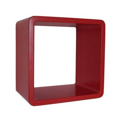 Canap s ensembles etag re cube murale en bois l30xp20xh30cm color box couleur rouge - Etagere murale rouge ...