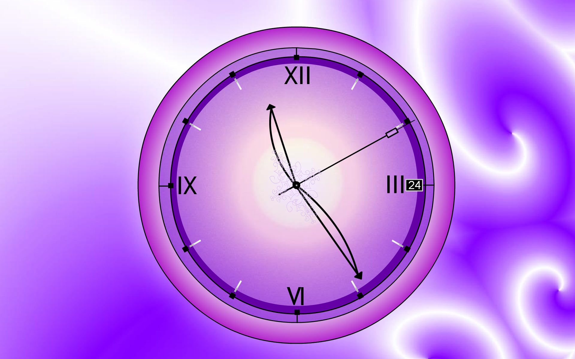 Lacy Clock Screensaver Personalize Your Windows Environment Clock Wallpaper Clock Screensaver Clock