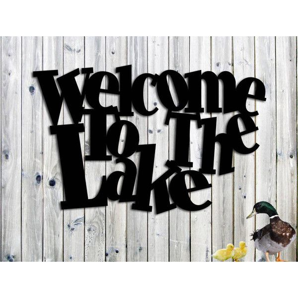 Welcome To The Lake Signs Decor Delectable Welcome To The Lake Whimsical Metal Sign Lake House Cottage Or 2018
