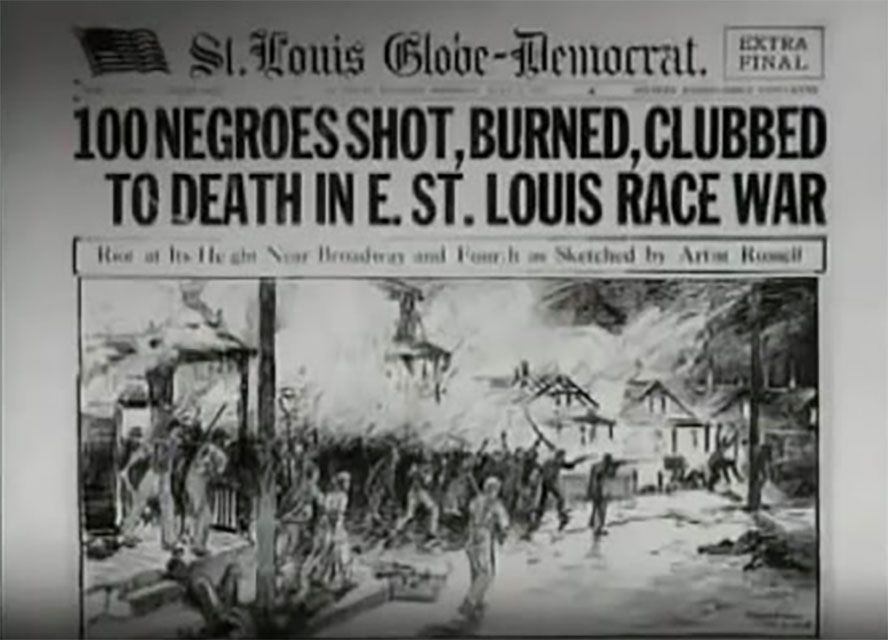 ATTACK ON AMERICANS: The racial rioting and murder by whites against black members of their community in 1917, East St. Louis, Illinois