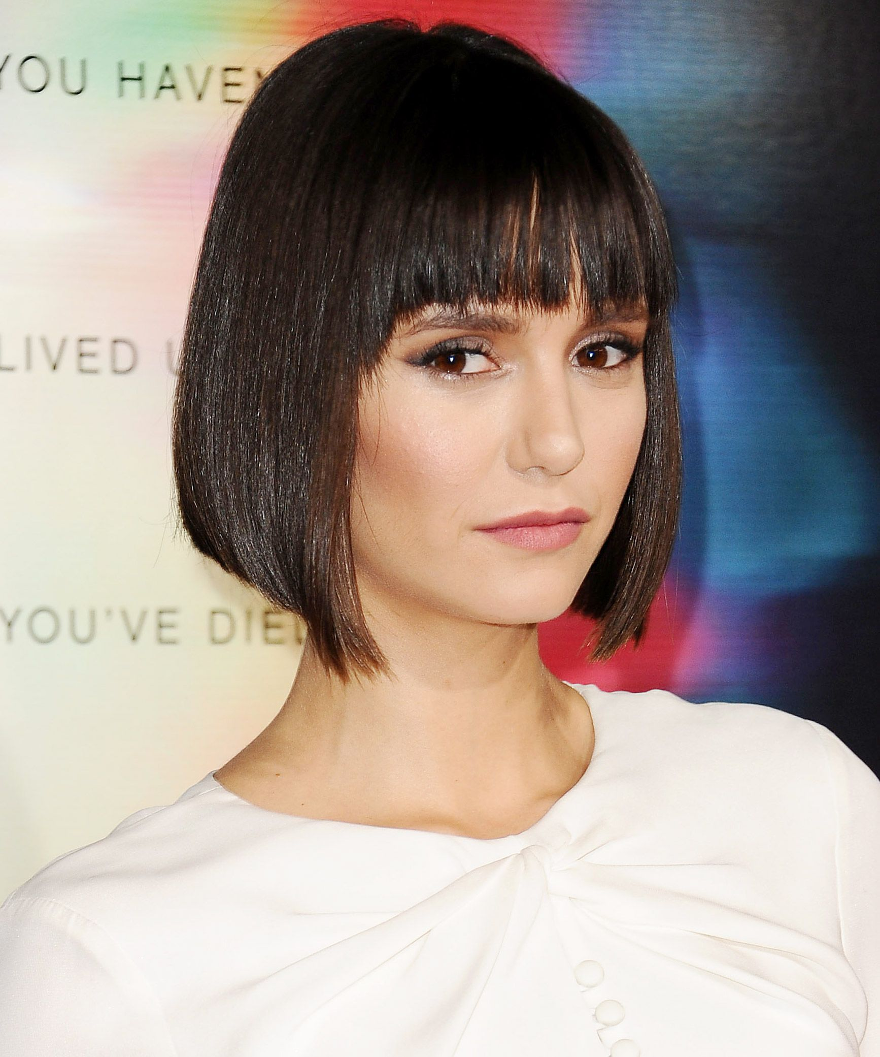 Nina Dobrev Confirms Everyone Is Getting Bangs and a Bob Right Now