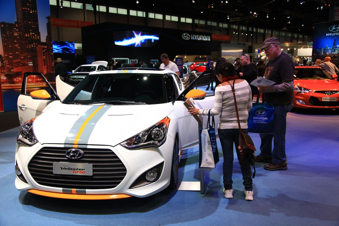 Pin By Sdm Cars On 2012 Chicago Auto Show Chicago Auto Show Hyundai Veloster Veloster Turbo
