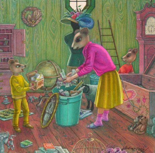 """Vladimir Vagin illustration from """"Dear Brother"""", by Frank Asch."""