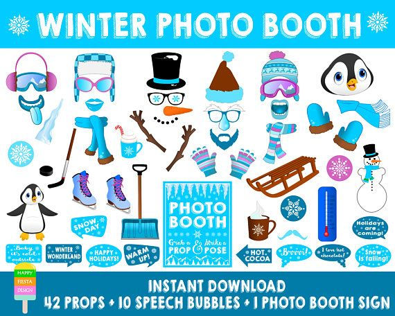 Printable Winter Photo Booth Propsprintable Winter Wonderland