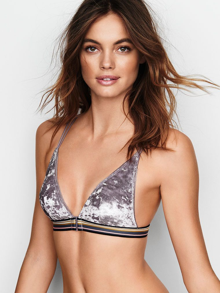 22e9ebd292e12 Velvet Front-close Bralette - The Victoria s Secret Bralette Collection - Victoria s  Secret