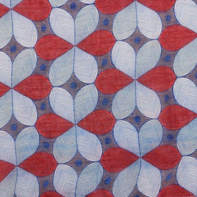 f5250223549 Foulard imprimé fleurs bleu rouge La Redoute Collections