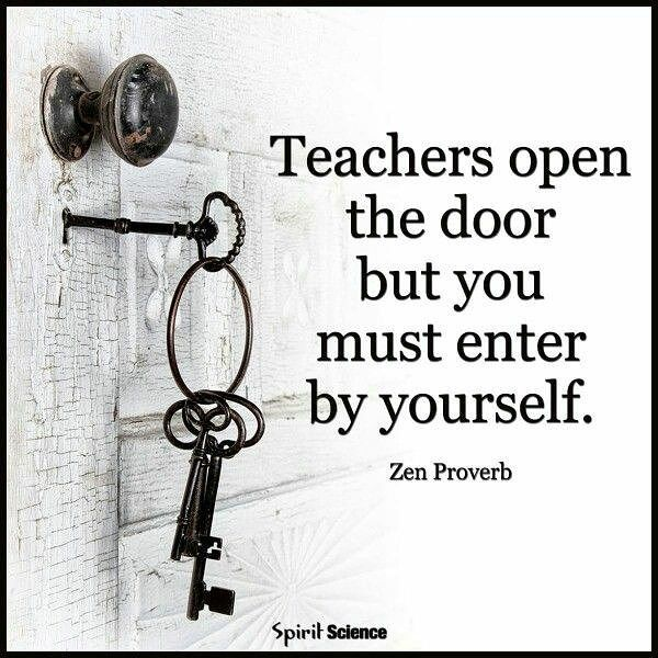 Educational Chinese Proverb Teachers Open The Door But You Must