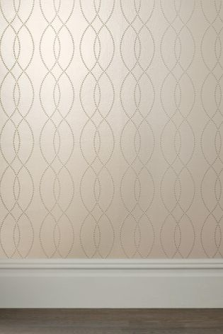 Buy Paste The Wall Gold Beaded Wave Wallpaper from the Next UK online shop