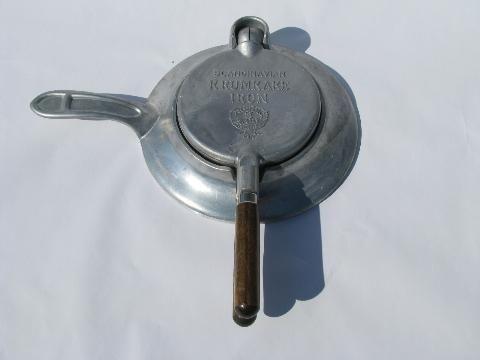 Vintage Nordicware Scandinavian Krumkake Iron To Make Swedish Waffle Cookies Nordic Ware Waffle Cookies Waffles