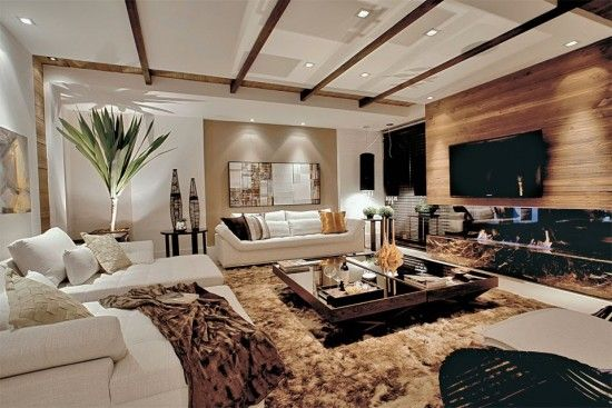 Elegantes dise os de salas modernas departamento abierto for Departamentos elegantes decoracion