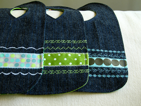 Recycle a pair of blue jeans into a bib and burp cloth... n' stitches designs: Baby Bib and Burp Cloth Tutorial
