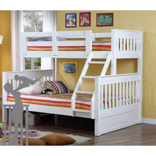 Riley Single Over Double Bunk Inc Trundle Bunk Beds