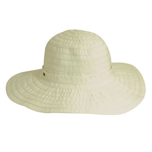 7bd9567f Dainty - Scala LC511 White Crushable Ribbon Wide Brim Hat Ribbon in ...