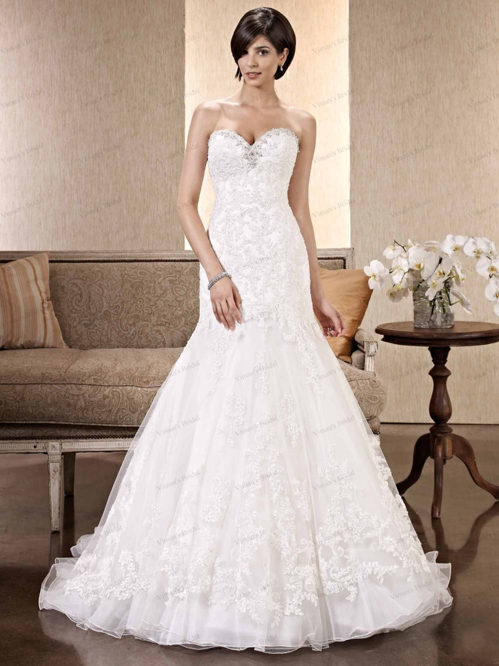 Wedding dress with bow on back  Click to Buy ucuc Vimanus Bridal  Wedding Dress Lace up Back