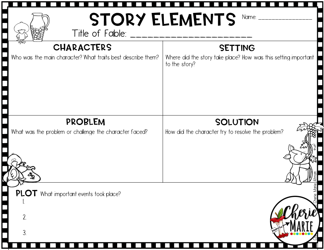 5 Reasons Fables Should Be Used To Introduce And Integrate Reading Standards Teaching Story Elements Fables Third Grade Stories [ 816 x 1056 Pixel ]
