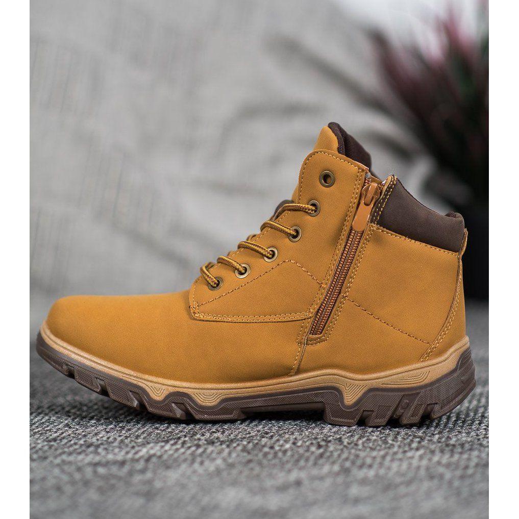 Sznurowane Buty Mckeylor Brazowe Hiking Boots Boots Shoes